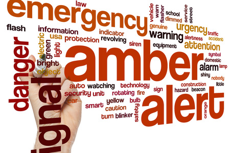 alerta: Alerta Amber nube de palabras
