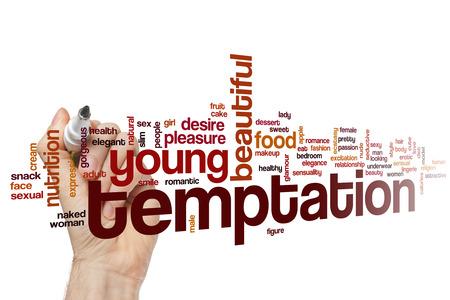 word cloud Temptation