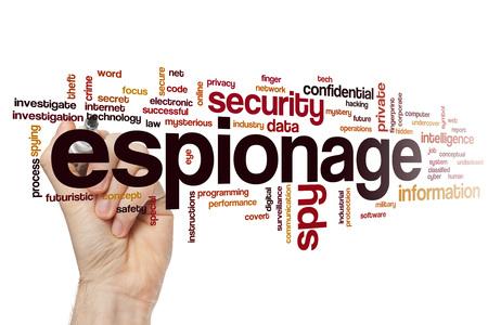 espionage: Espionage word cloud Stock Photo