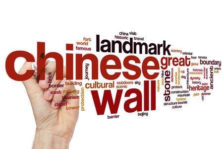 china wall: muralla china nube de palabras