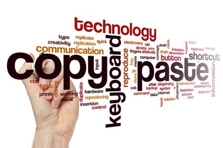 plagiarism: Copy paste word cloud