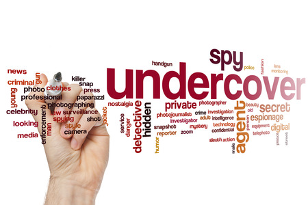 press agent: Undercover word cloud