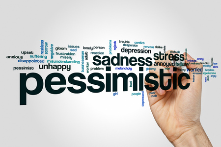 pessimistic: Pessimistic word cloud Stock Photo