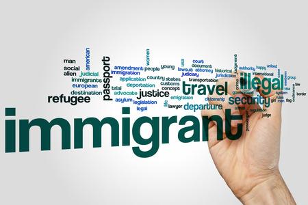 immigrant: Immigrant word cloud