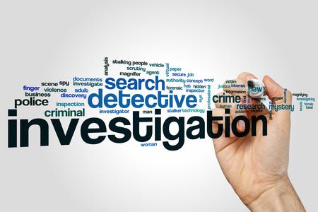 Investigation Wortwolke Standard-Bild - 51516092