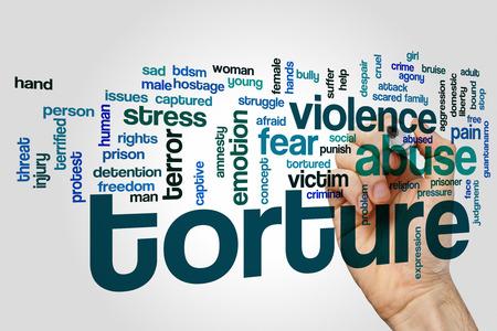 torture: Torture word cloud