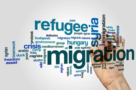 Migration word cloud