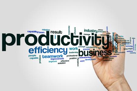 productividad: Productividad nube de palabras