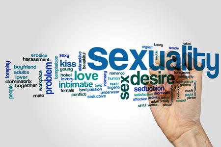 sexualidad: Sexualidad nube de palabras Foto de archivo