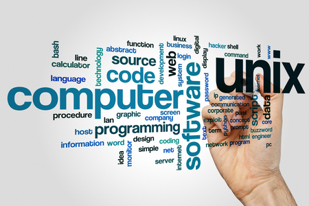 Unix word cloud Stock Photo