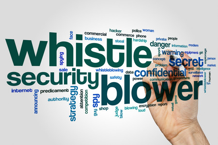 blower: Whistle blower word cloud Stock Photo