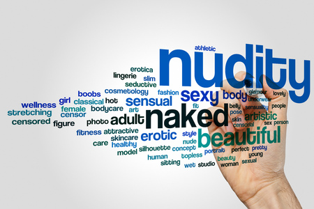 nudity: Nudity word cloud Stock Photo