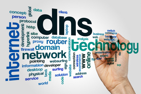 dns: DNS word cloud Stock Photo