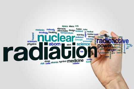 radiacion: La radiaci�n nube de palabras