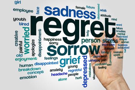 regret: Regret word cloud Stock Photo