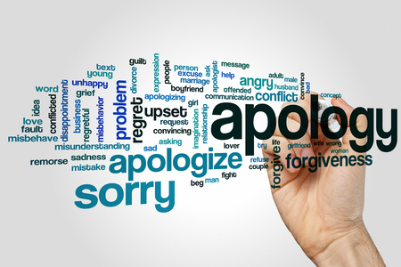 remorse: Apology word cloud