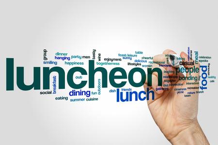 luncheon: Luncheon word cloud