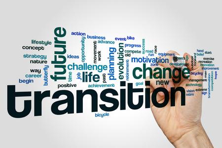Transition word cloud Reklamní fotografie