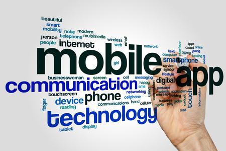 mobile app: Mobile app word cloud