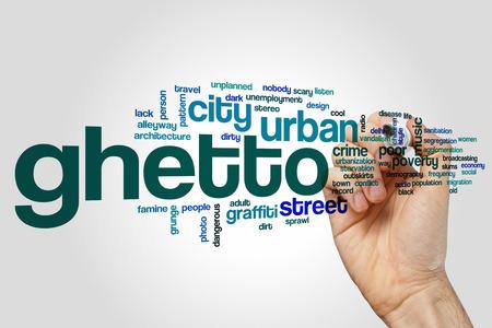 ghetto: Ghetto word cloud Stock Photo