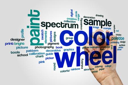Colore word wheel nuvola