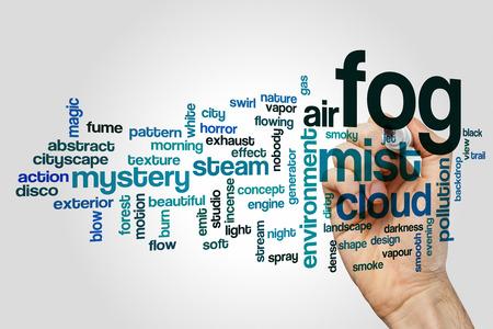 emit: Fog word cloud Stock Photo