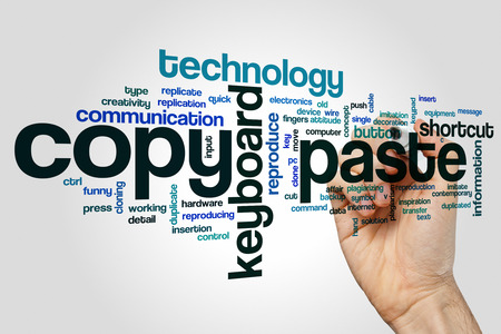plagiarism: Copy paste word cloud