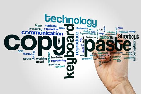 paste: Copy paste word cloud