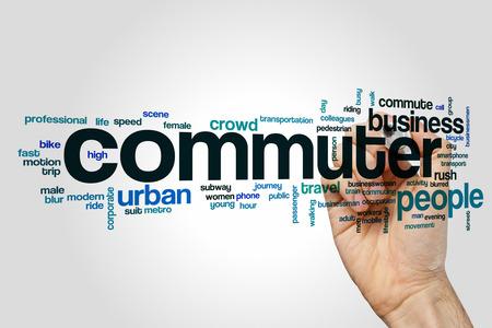 Commuter word cloud