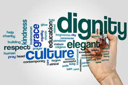 dignity: Dignity word cloud