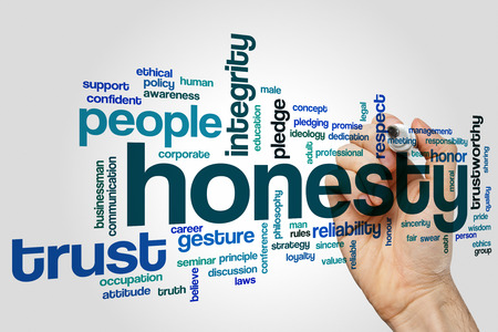 Honesty word cloud Stock Photo