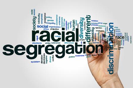 segregation: Racial segregation concept word cloud background