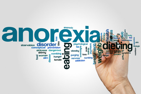 anorexia: Anorexia word cloud concept Stock Photo