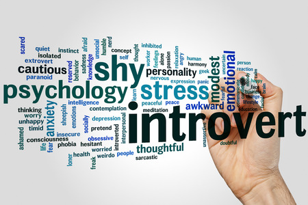 introvert: Introvert concept word cloud background