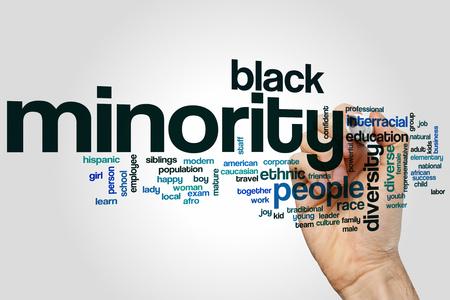 minority: Minority word cloud concept Stock Photo