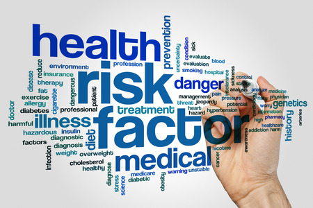 Risk factor concept word cloud background