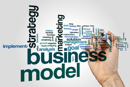 Business model word cloud concept Foto de archivo