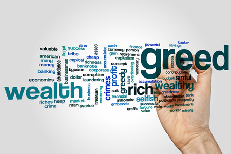 greed: Greed word cloud concept