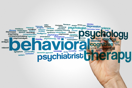 behavioral: Behavioral therapy concept word cloud background Stock Photo