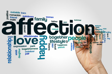 affection: Affection word cloud concept with love relationship related tags