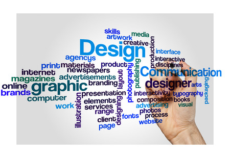 interactivity: graphic design concept word cloud on white Stock Photo
