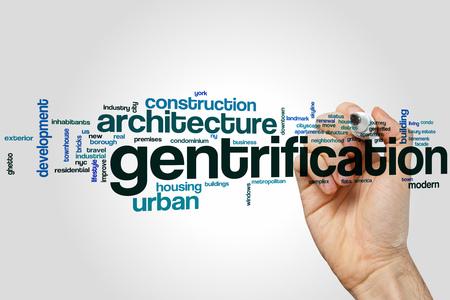 gentrification: Gentrification word cloud concept