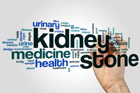 renal stone: Kidney stone word cloud concept