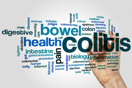 Colitis word cloud concept