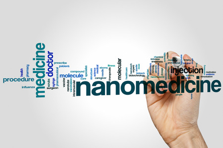 inyeccion intramuscular: Nanomedicine word cloud concept