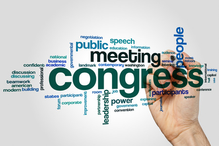 Congress concept word cloud background Stock Photo