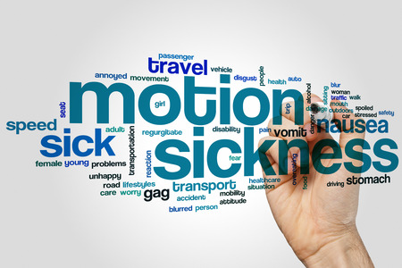 mouth pain: Motion sickness word cloud concept
