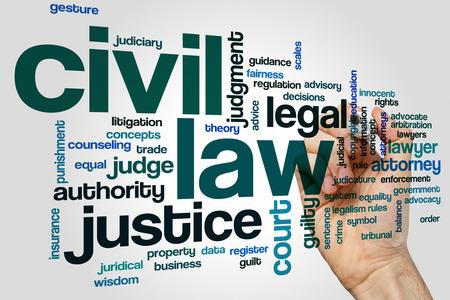 obligations: Civil law word cloud concept