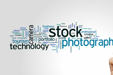 stock photography: Stock photography concept word cloud background