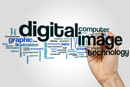 digital image: Digital image word cloud concept Stock Photo
